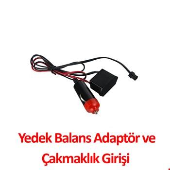 İp Neon Torpido Ledi Yedek Balans Adaptör + Çakmaklık Girişi