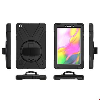 Samsung Galaxy Tab A 8inç T290 Hand Strap Zırh Armor Askılı Kılıf