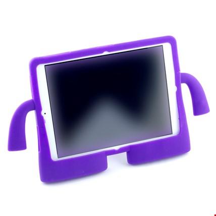 iPad 2-3-4 Çocuklar İçin Silikon Kılıf Standlı Renk: Mor