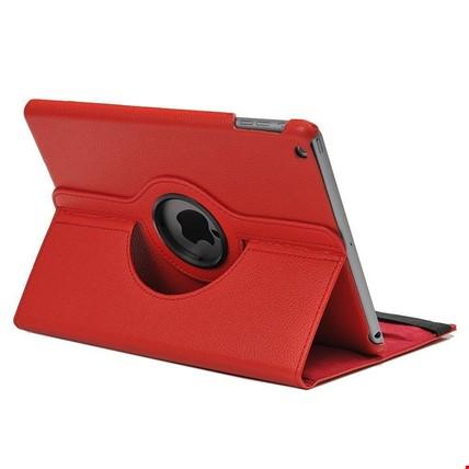 iPad Air Kılıf Dönebilen 360 Derece Ayarlanabilir Kılıf Renk: Kırmızı
