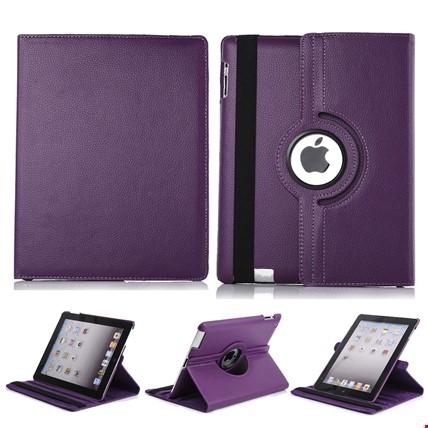 iPad 8 Nesil 10.2 Kılıf 360º Standlı Ayarlanabilir Kılıf Renk: Mor