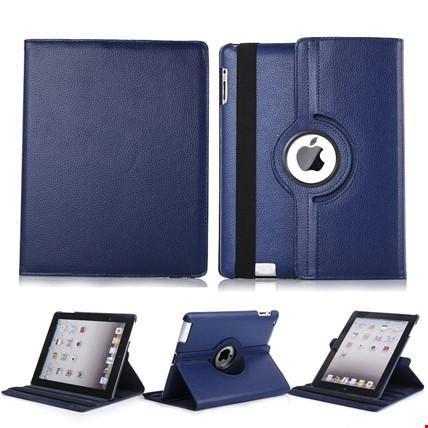 iPad 8 Nesil 10.2 Kılıf 360º Standlı Ayarlanabilir Kılıf Renk: Lacivert