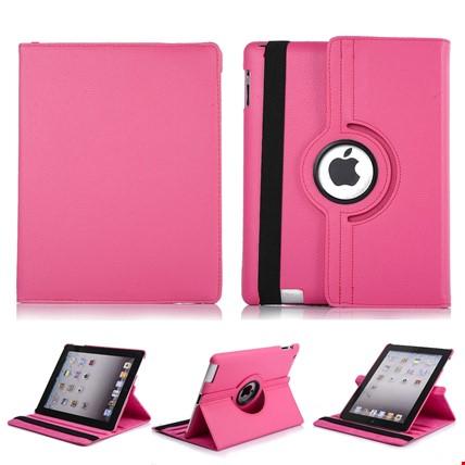 iPad 8 Nesil 10.2 Kılıf 360º Standlı Ayarlanabilir Kılıf Renk: Pembe