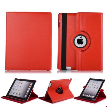 iPad 8 Nesil 10.2 Kılıf 360º Standlı Ayarlanabilir Kılıf Renk: Kırmızı