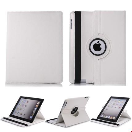 iPad 8 Nesil 10.2 Kılıf 360º Standlı Ayarlanabilir Kılıf Renk: Beyaz