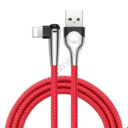 iPhone 6 7 8 Plus X Xr Xs Max Baseus Hızlı Oyun Şarj Kablosu 2.4A Renk: KırmızıUzunluk Seçimi: 2 Metre