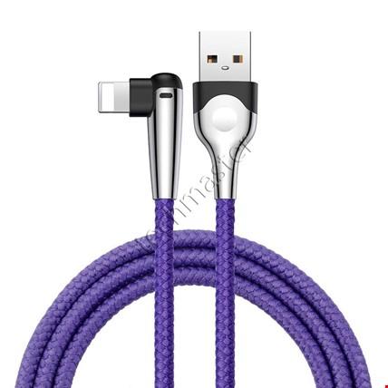 iPhone 6 7 8 Plus X Xr Xs Max Baseus Hızlı Oyun Şarj Kablosu 2.4A Renk: MaviUzunluk Seçimi: 1 Metre