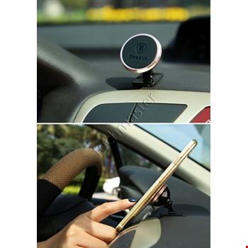 iPhone Samsung Huawei Baseus Araç Mıknatıslı 360 Derece Tutucu