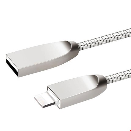 iPhone 5S 6 6S 7 8 X Plus Kopmaz Metal Sargılı Kablo