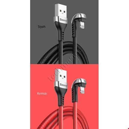 iPhone 6 7 8 Plus Xs Max Xr X Baseus Hızlı Şarj Oyun Usb Kablosu Renk: KırmızıUzunluk Seçimi: 2 Metre
