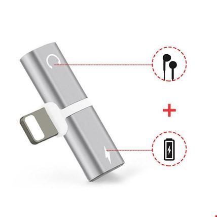 iPhone 7 8 Plus X Xr Xs Max Kulaklık Şarj Giriş Adaptör Çoklayıcı Renk: Gümüş