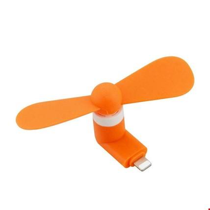 iPhone iPad Uyumlu Taşınabilir Mini Fan Vantilatör 2 Adet Renk: Turuncu