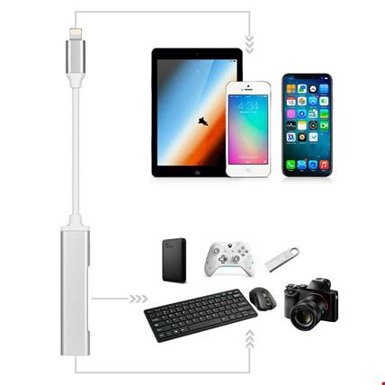 iPhone Lightning 2 Adet Usb 3.0 Kamera Otg ve Şarj Girişli Adaptör