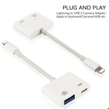 iPhone Lightning Kulaklık ve Usb Kamera Hub Adaptör