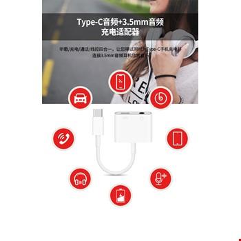 Type-C Usb 3.1 Şarj Girişli 3.5mm Kulaklık Adaptörü Kablo MH-CM33