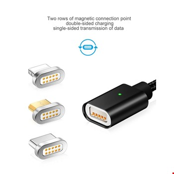 Lg Sony Htc Vestel Manyetik Mıknatıslı 3in 1 Şarj Kablosu