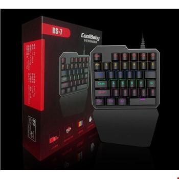 RS-7 Oyuncu Gaming Klavye 28 Tuşlu Mekanik Klavye Led Işıklı