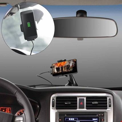 Kablosuz Şarj Özellikli Wirelles Qİ Araç Telefon Tutucu Kiti
