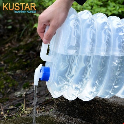 Katlanabilir Musluklu Outdoor Kamp Su Bidonu 10 Litre