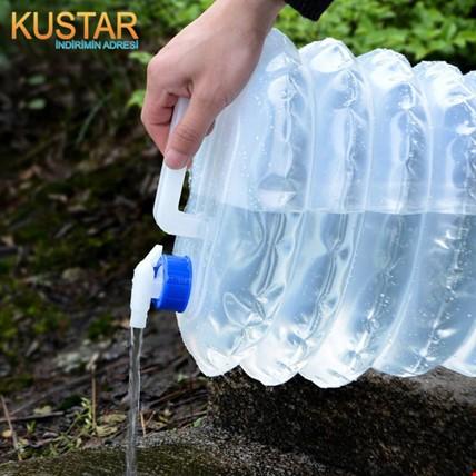 Katlanabilir Musluklu Outdoor Kamp Su Bidonu 15 Litre