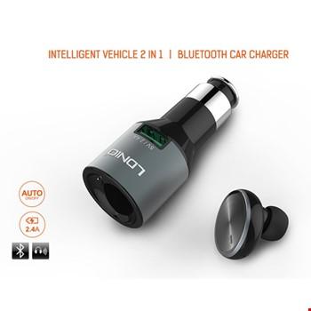 LDNIO CM20 Bluetooth Kulak İçi Mono Kulaklık & Araç Şarj Kiti