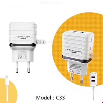 Konfulon C33 2.4A iPhone iPad Lightning Aleti + 2 Usb Çıkışı