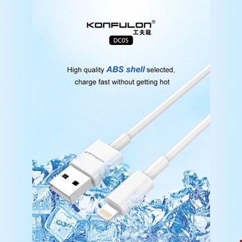 Konfulon DC05 iPhone iPad Lightning 2.4A Şarj Kablosu
