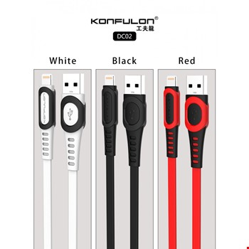 Konfulon DC02 iPhone iPad Lightning 2.4A Şarj Kablosu 1mt
