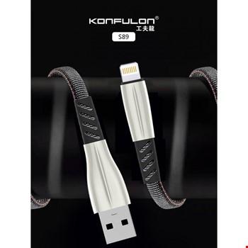Konfulon S89 iPhone iPad Lightning 2.4A Şarj Kablosu 1Mt