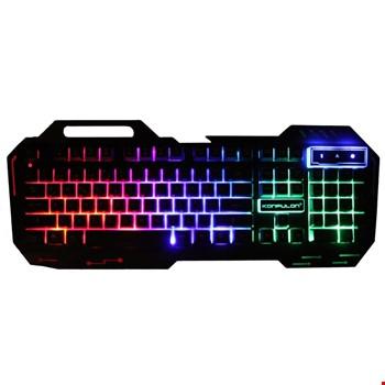 Konfulon V1 RGB Işıklı Metal Yüzey Türkçe Q Kablolu Gaming Klavye