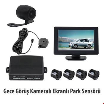 Geri Görüş Kameralı Lcd Ekranlı Araç Park Sensörü Ses İkazlı