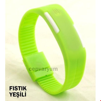 Led Bileklik Dijital Renkli 3 Adet Saat Spor Saati Renk: Yeşil