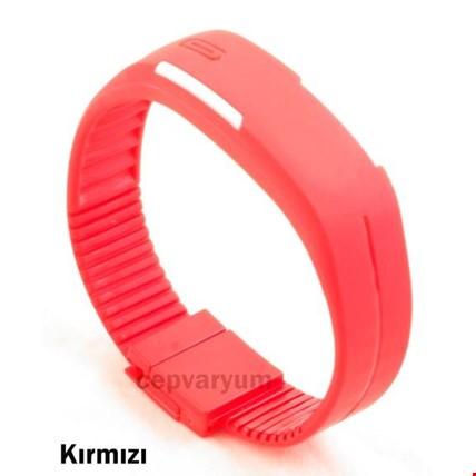 Led Bileklik Dijital Renkli 3 Adet Saat Spor Saati Renk: Kırmızı