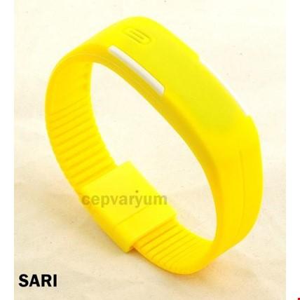 Led Bileklik Dijital Renkli 3 Adet Saat Spor Saati Renk: Sarı