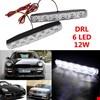 Led Gündüz Farı Işık Sis Lambası DRL 6 Ledli Su Geçirmez 2 Far