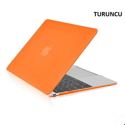 MacBook Air 13 13.3 A1466 Kılıf Rubber Tam Koruma Kapak Renk: Turuncu