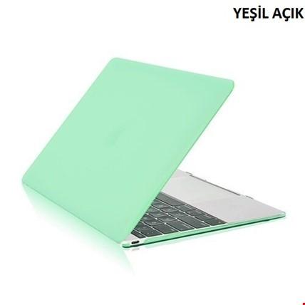 MacBook Air 13 13.3 A1466 Kılıf Rubber Tam Koruma Kapak Renk: Yeşil Açık