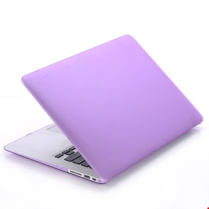 MacBook Air 13 13.3 A1466 Kılıf Rubber Tam Koruma Kapak Renk: Mor