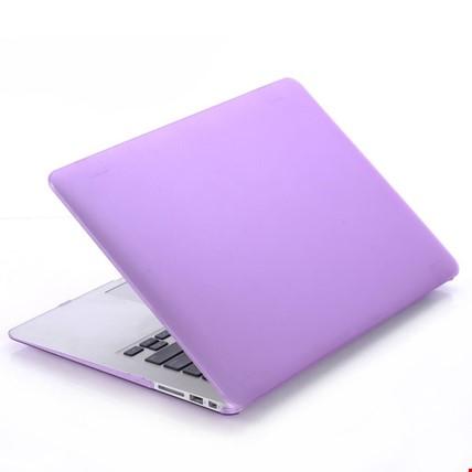 Macbook Pro 13 2018 Model A1989 Kılıf Rubber Kapak Sert Kılıf Renk: Mor