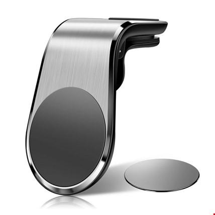 Manyetik Mıknatıslı Havalandırma Araç Telefon Tutucu L Tipi Renk: Gri