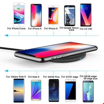 iPhone 8 Plus X S8 S9 Plus Note 5 8 Kablosuz Hızlı Şarj Standı