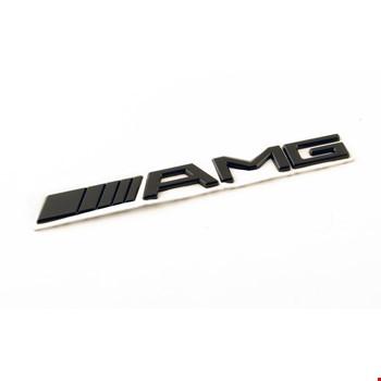 Mercedes AMG Siyah Amblem Logo Dekoratif Paslanmaz Bagaj