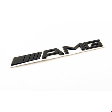 Mercedes AMG Siyah Amblem Logo Dekoratif Paslanmaz Bagaj Küçük