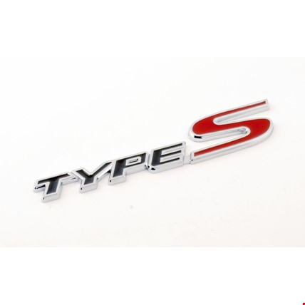 Honda Type S Amblem Metal Logo Dekoratif Paslanmaz