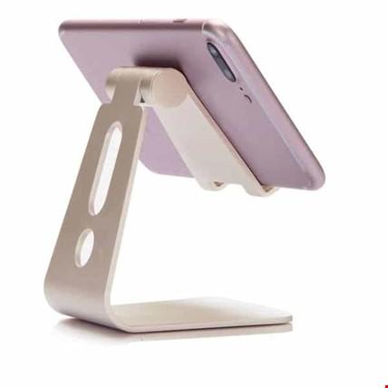 Metal Telefon Tablet Stand Masaüstü Ayarlanabilir Dock Standı Renk: Altın  Dore