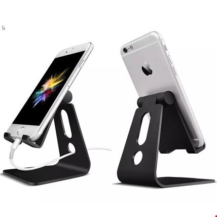 Metal Telefon Tablet Stand Masaüstü Ayarlanabilir Dock Standı Renk: Siyah