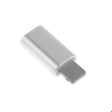 Micro Usb Den iPhone Lİghtning Çevirici Adaptör 2 Adet Renk: Gri
