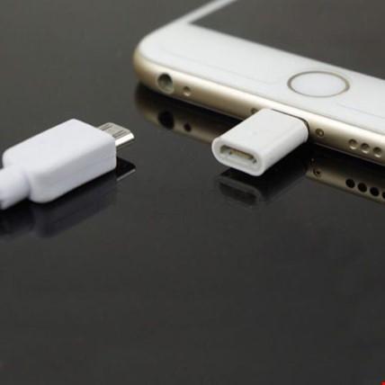 Micro Usb Den iPhone Lİghtning Çevirici Adaptör 2 Adet Renk: Beyaz
