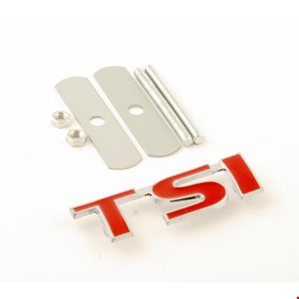 Vw Tsi 3 Kırmızı Vidalı Logo Amblem 3D Metal