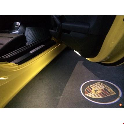 Porsche Kapı Altı Led Logo Aydınlatma 3D Ghost Shadow